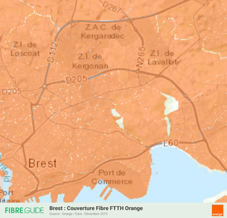 Carte Fibre Orange à Brest