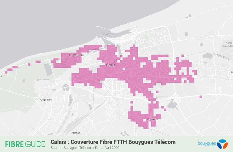 Carte Fibre Bouygues Telecom à Calais