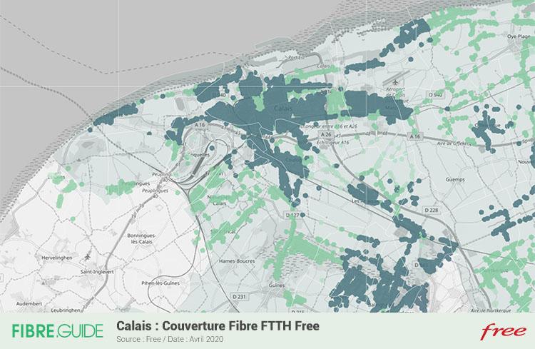 Carte Fibre Free à Calais