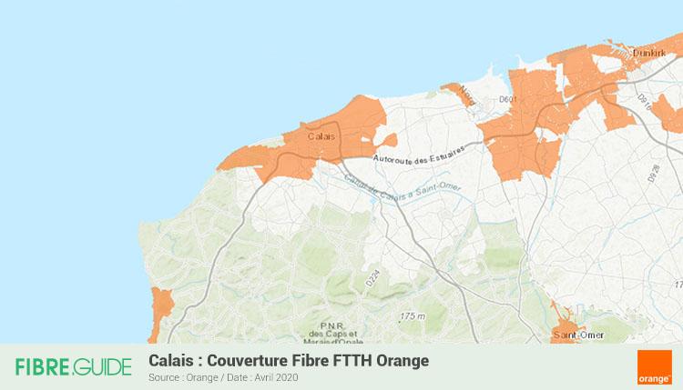 Carte Fibre Orange à Calais