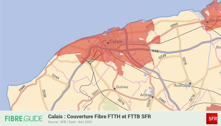 Carte Fibre SFR à Calais