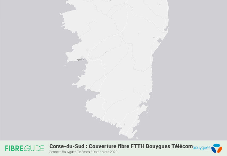Carte Fibre Bouygues Télécom En Corse-du-Sud
