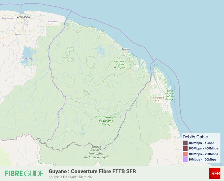 Carte Fibre SFR à Guyane