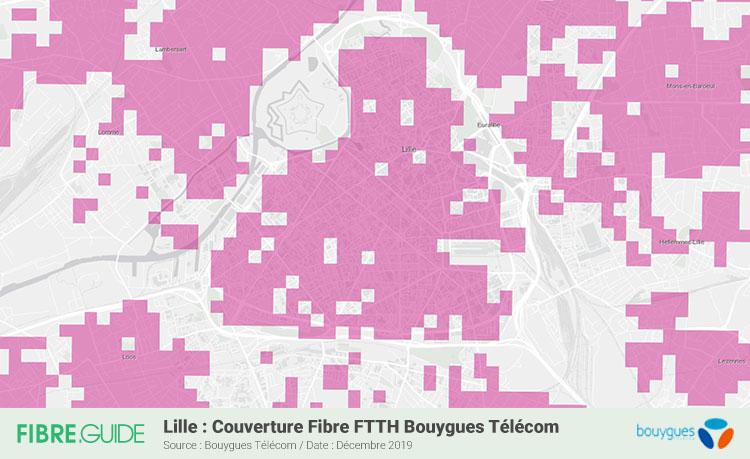 Carte Fibre Bouygues Télécom à Lille