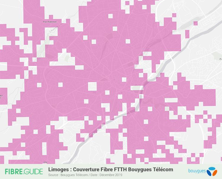 Carte Fibre Bouygues Télécom à Limoges