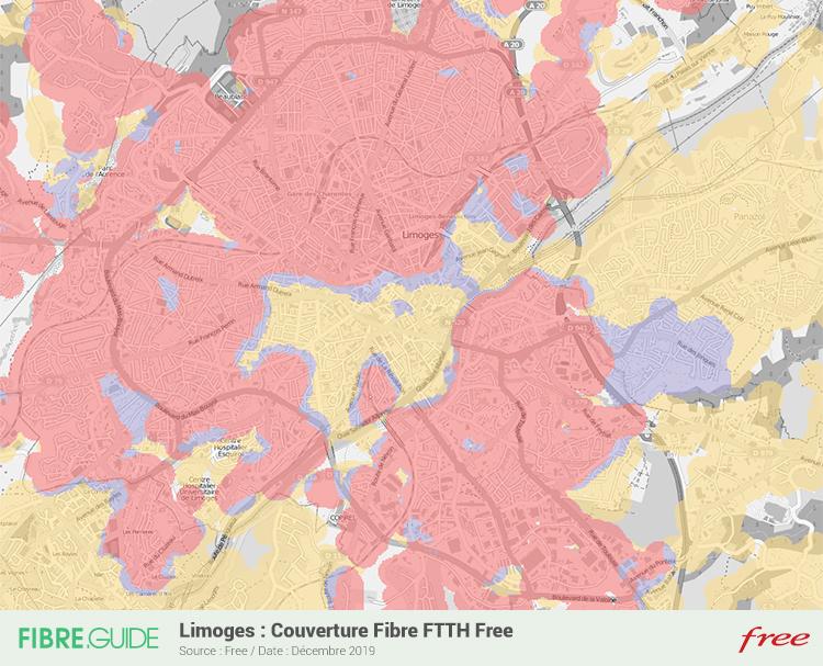 Carte Fibre Free à Limoges