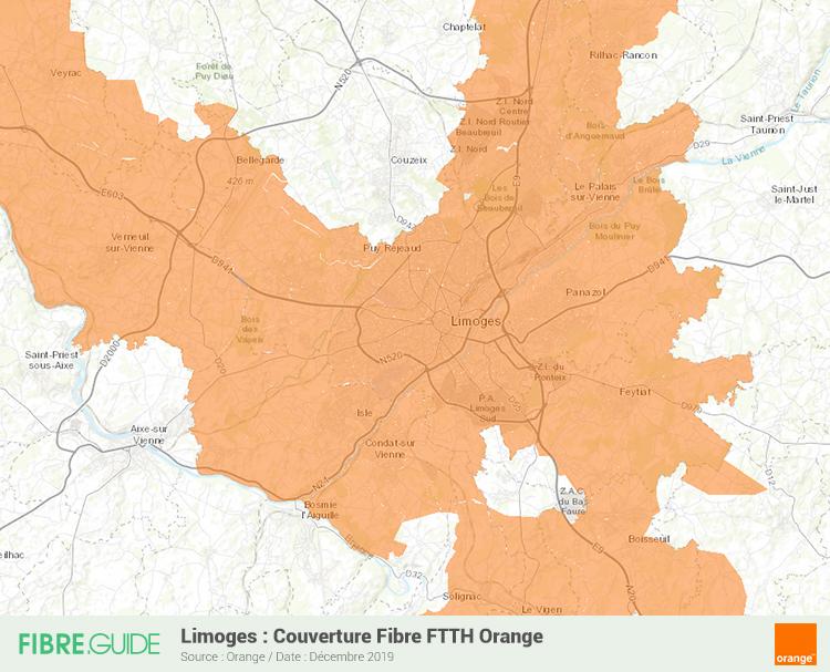 Carte Fibre Orange à Limoges