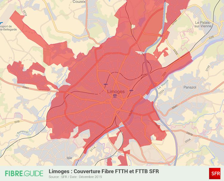 Carte Fibre SFR à Limoges