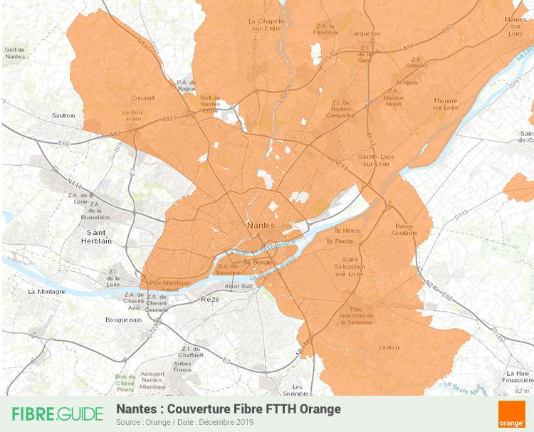 Carte Fibre Orange à Nantes