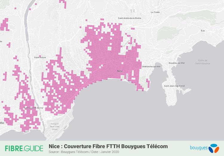 Carte Fibre Bouygues Telecom à Nice