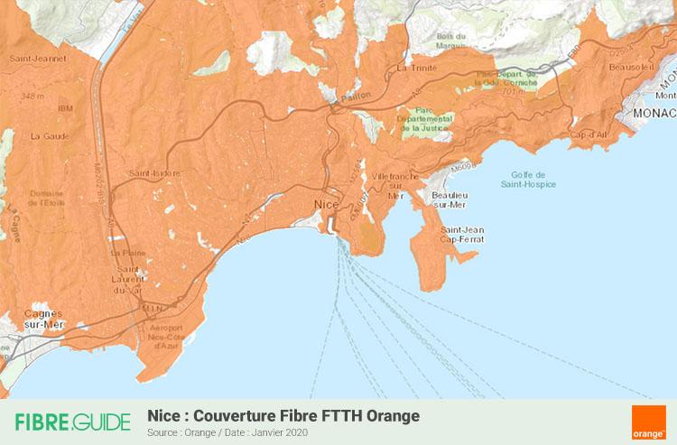 Carte Fibre Orange à Nice