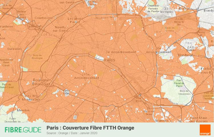Carte Fibre Orange à Paris