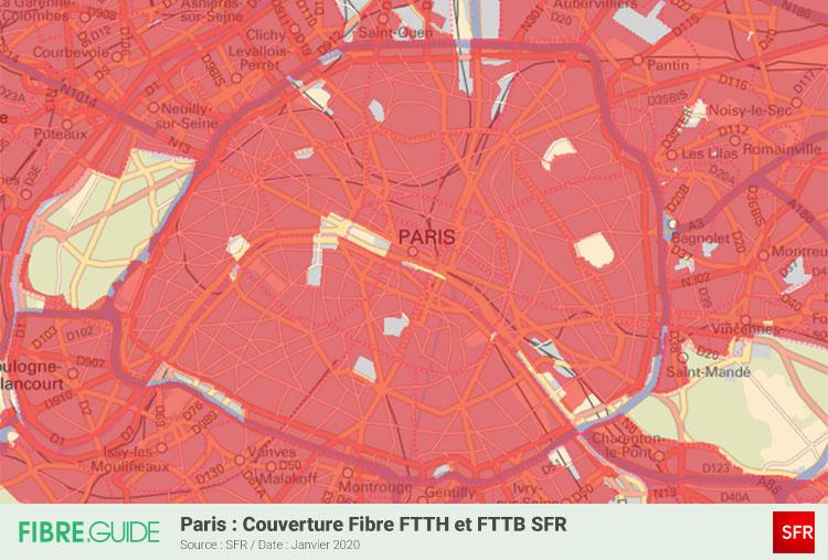 Carte Fibre SFR à Paris