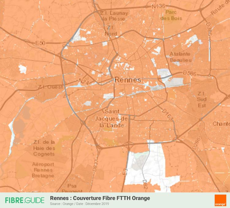 Carte Fibre Orange à Rennes