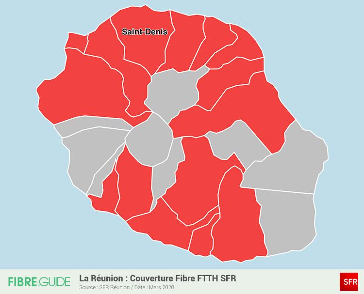 Carte Fibre SFR à la Réunion