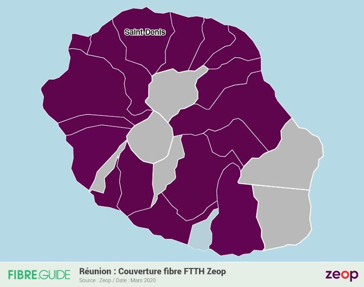 Carte Fibre Zeop à la Réunion