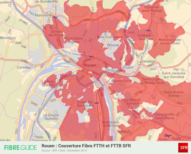 Carte Fibre SFR à Rouen