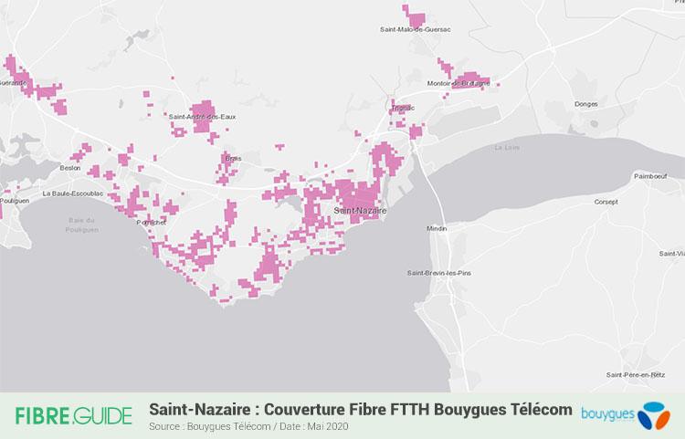 Carte Fibre Bouygues Telecom à Saint-Nazaire