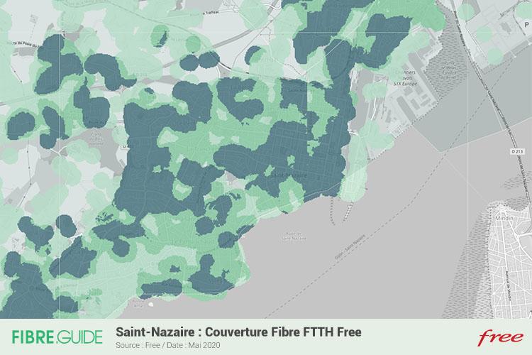 Carte Fibre Free à Saint-Nazaire