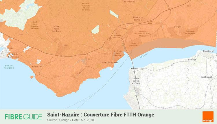 Carte Fibre Orange à Saint-Nazaire