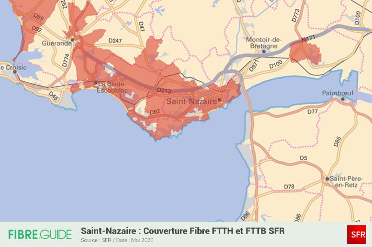 Carte Fibre SFR à Saint-Nazaire