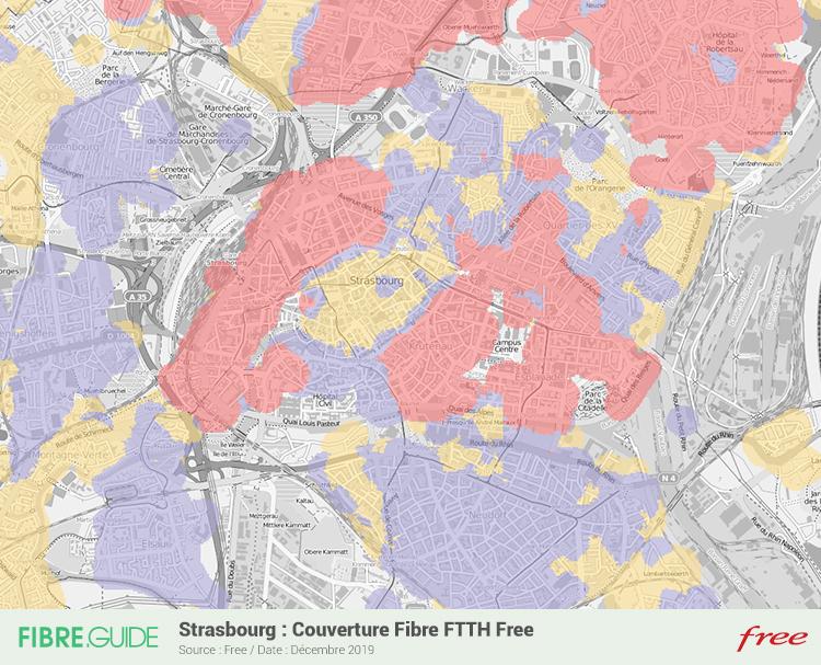 Carte Fibre Free à Strasbourg