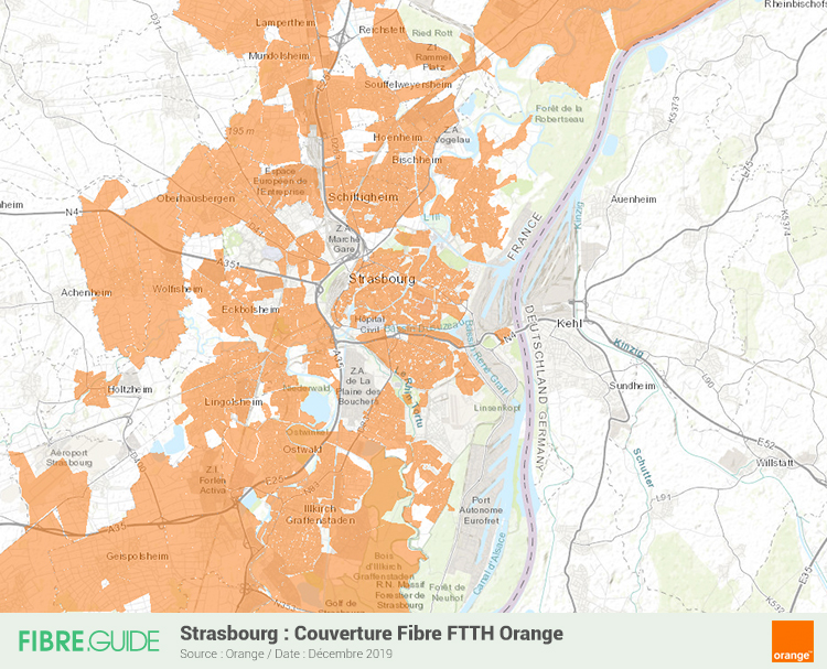 Carte Fibre Orange à Strasbourg