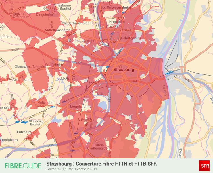 Carte Fibre SFR à Strasbourg