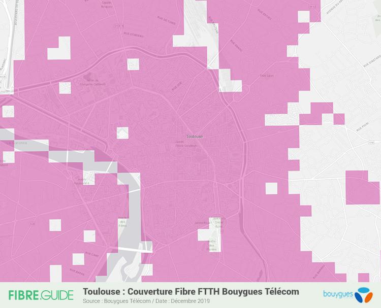 Carte Fibre Bouygues Télécom à Toulouse
