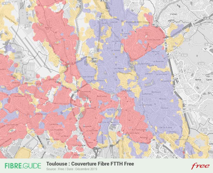 Carte Fibre Free à Toulouse
