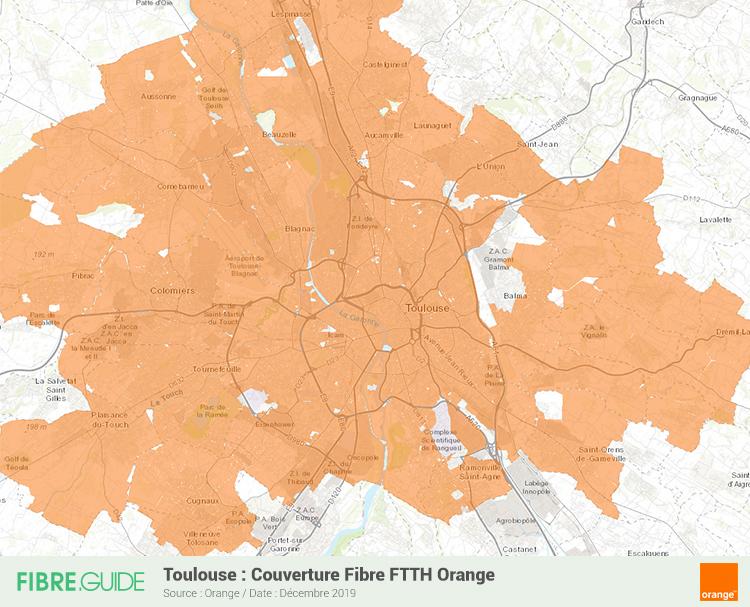 Carte Fibre Orange à Toulouse