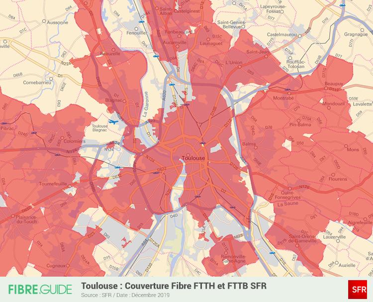 Carte Fibre SFR à Toulouse
