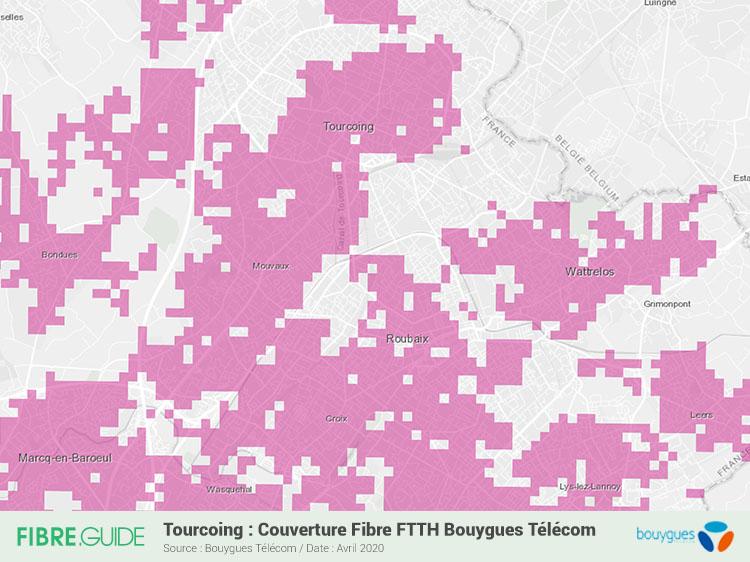 Carte Fibre Bouygues Telecom à Tourcoing