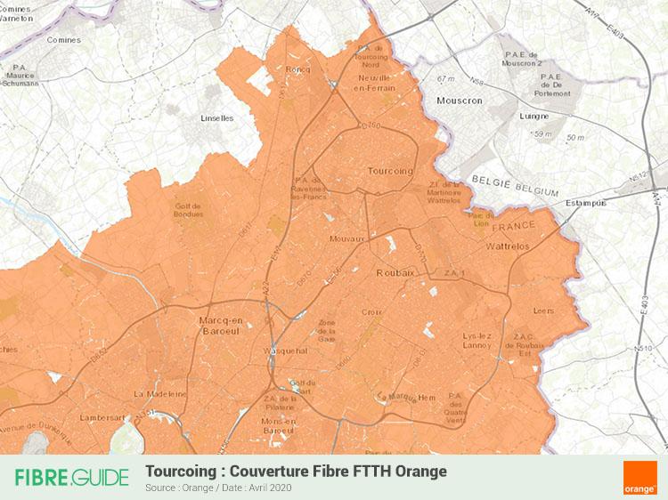 Carte Fibre Orange à Tourcoing