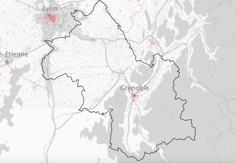 Carte Couverture fibre FTTH en Isère