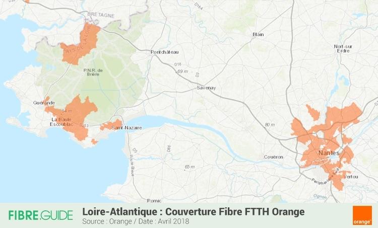 Carte Fibre Orange Loire Atlantique