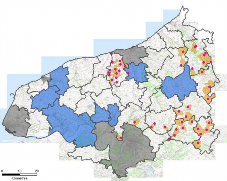 Carte FTTH et MED Seine-Maritime