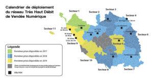 Carte de la Phase 1 de Vendée Numerique