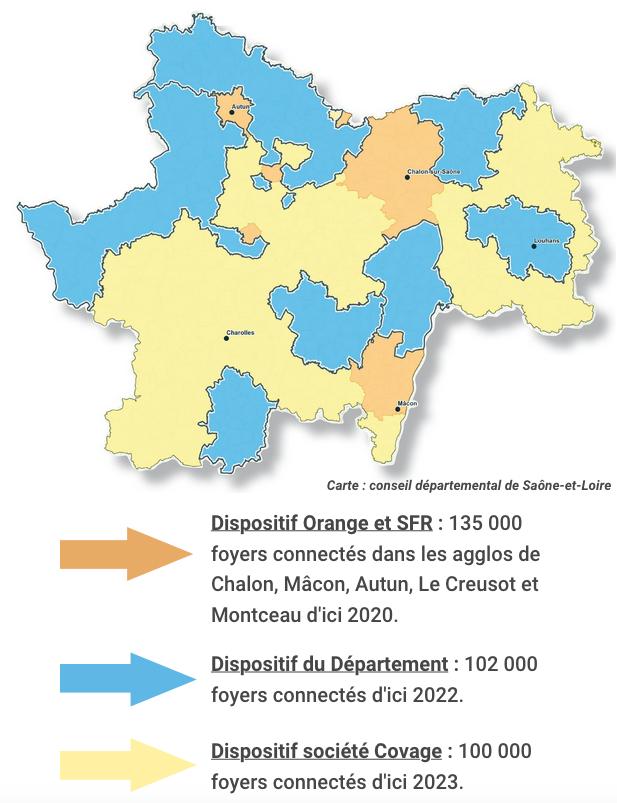 Dispositifs Saône-et-Loire fibre