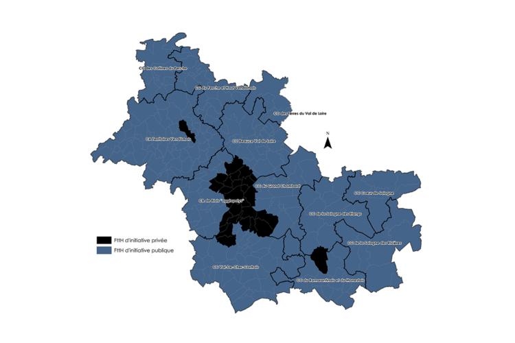 Carte du RIP dans le Loir-et-Cher (41)