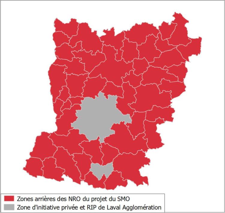 Carte du RIP de la Mayenne
