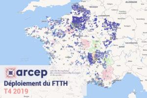 Déploiement du FTTH au T4 2019 - ARCEP