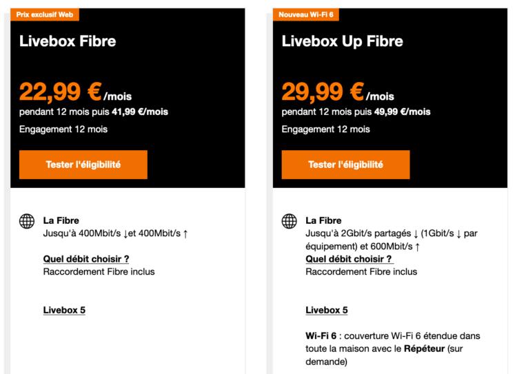 livebox fibre orange